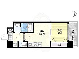 Orientem 7階1LDKの間取り