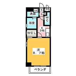 アルカンシェル名駅[4階]の間取り