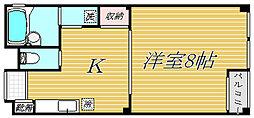 東京都中野区上高田2丁目の賃貸マンションの間取り