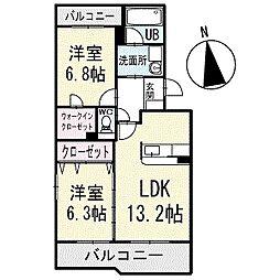 Blossom court 4階[401号室]の間取り