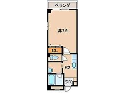 アパートメントMS[4階]の間取り