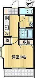 シノン鶴牧[305号室]の間取り