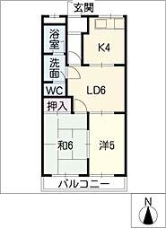コンフォースHIMAWARI[2階]の間取り