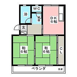 メゾン柳[5階]の間取り