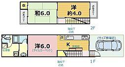 [一戸建] 京都府京都市伏見区横大路貴船 の賃貸【/】の間取り
