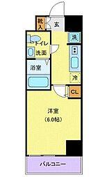 JR京浜東北・根岸線 川口駅 徒歩10分の賃貸マンション 2階1Kの間取り