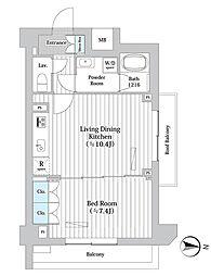 東京メトロ丸ノ内線 西新宿駅 徒歩7分の賃貸マンション 4階1LDKの間取り