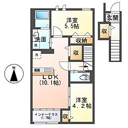 (仮称)茂原市早野新築アパート[203号室]の間取り