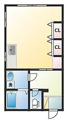 清富荘[1階]の間取り