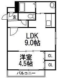 北海道札幌市中央区北四条西27丁目の賃貸マンションの間取り