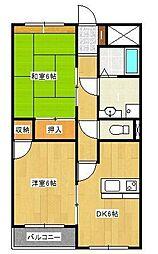 コーポ櫻井[3階]の間取り