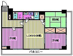 レジデンス武蔵野[203号室]の間取り