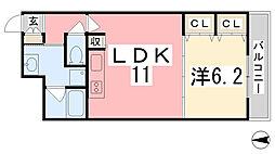 住吉マンション[3-E号室]の間取り