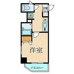 JR総武線 御茶ノ水駅 徒歩8分の賃貸マンション 7階1Kの間取り