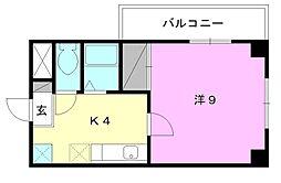 AKガーデン[403 号室号室]の間取り