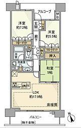 ミナシア湘南ライフタウンサウスフォート[6階]の間取り