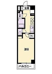 KDXレジデンス南草津[805号室]の間取り
