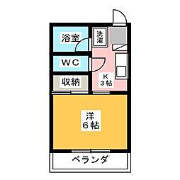 ドミール姫子 A棟[1階]の間取り