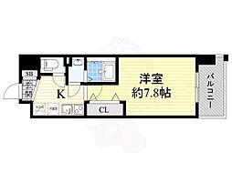 MASU no 茨木 5階1Kの間取り