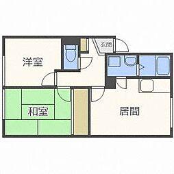 栄ヶ丘ハイツA[2階]の間取り