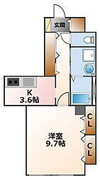 コロナール甲子園[1階]の間取り
