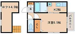 兵庫県神戸市長田区五番町7丁目の賃貸アパートの間取り