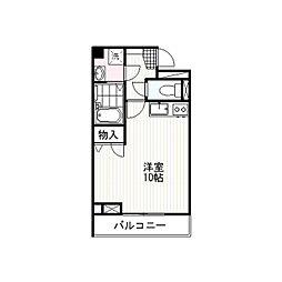 ハピデンス新宿[4階]の間取り