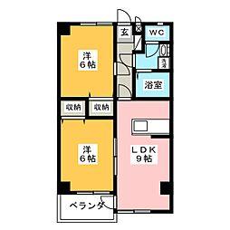 インペリアルハイツHIRO[2階]の間取り