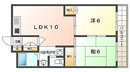 COM'S35 3階2LDKの間取り