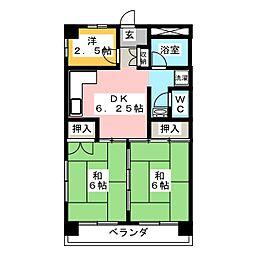 ナガシオマンション[3階]の間取り