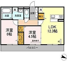 (仮)D-room西長住2丁目[2階]の間取り
