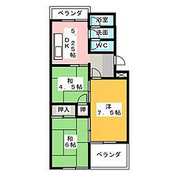 コーポ裏山[5階]の間取り