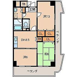 イーストヴィレッジ2001[8階]の間取り