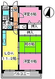 エスポワール95[3階]の間取り