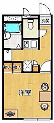 レオパレスリバー28[105号室]の間取り