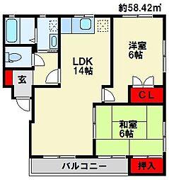 KAKU BLD[305号室]の間取り