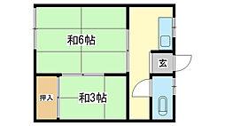 山下荘[1階]の間取り