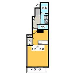 メゾンド ラフレシール[1階]の間取り