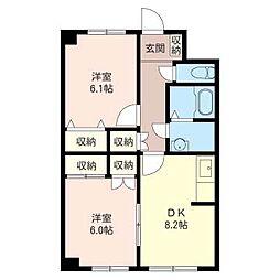 藤崎ビル[2階]の間取り