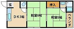 兵庫県明石市相生町1丁目の賃貸アパートの間取り
