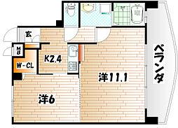 サンシャインプリンセス 北九州[3階]の間取り