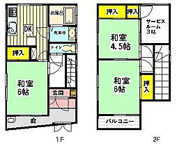 [一戸建] 埼玉県川口市大字新井宿 の賃貸【/】の間取り