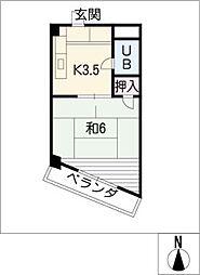 オリエントビル[2階]の間取り