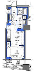 都営新宿線 小川町駅 徒歩30分の賃貸マンション 2階1DKの間取り