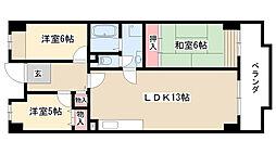 愛知県名古屋市昭和区広路町字隼人5丁目の賃貸マンションの間取り