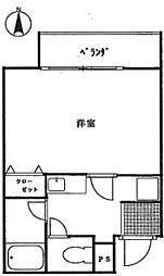 グロリアスハイム[1階]の間取り