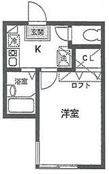 リバティ文京[1階]の間取り