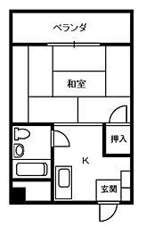 エレガント春山[3階]の間取り