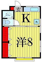 東京都足立区柳原1丁目の賃貸マンションの間取り