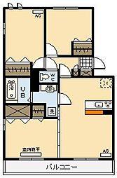 ラヴィーダ B棟[1階]の間取り